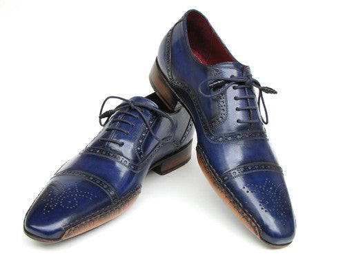 Navy Blue Captoe Oxford by Paul Parkman