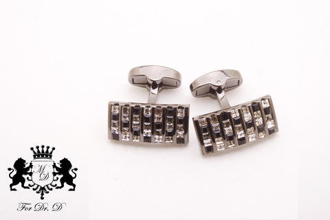 Honey Comb Barrel Cuff Links