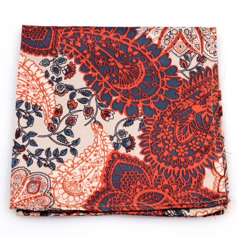 The Rose Paisley Pocket Square