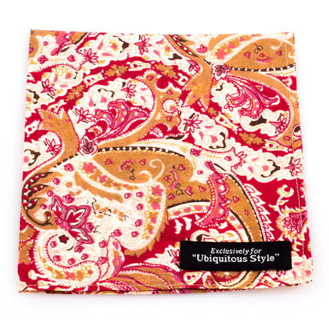Multicolor Bright Paisley Pocket Square