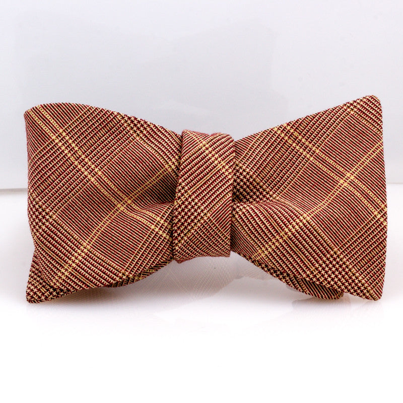Oxblood & Cream Glen Plaid