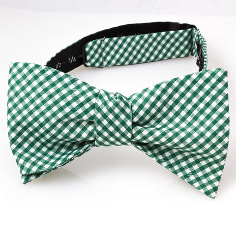 Green & White Gingham Check