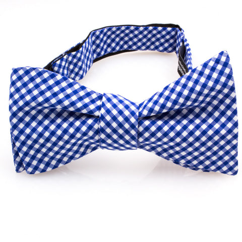 Electric Blue & White Gingham Check