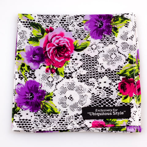 Rose Silk Pocket Square