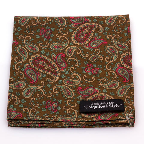 Multicolor Paisley Pocket Square