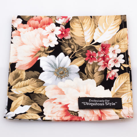 Large Flower Pocket Square