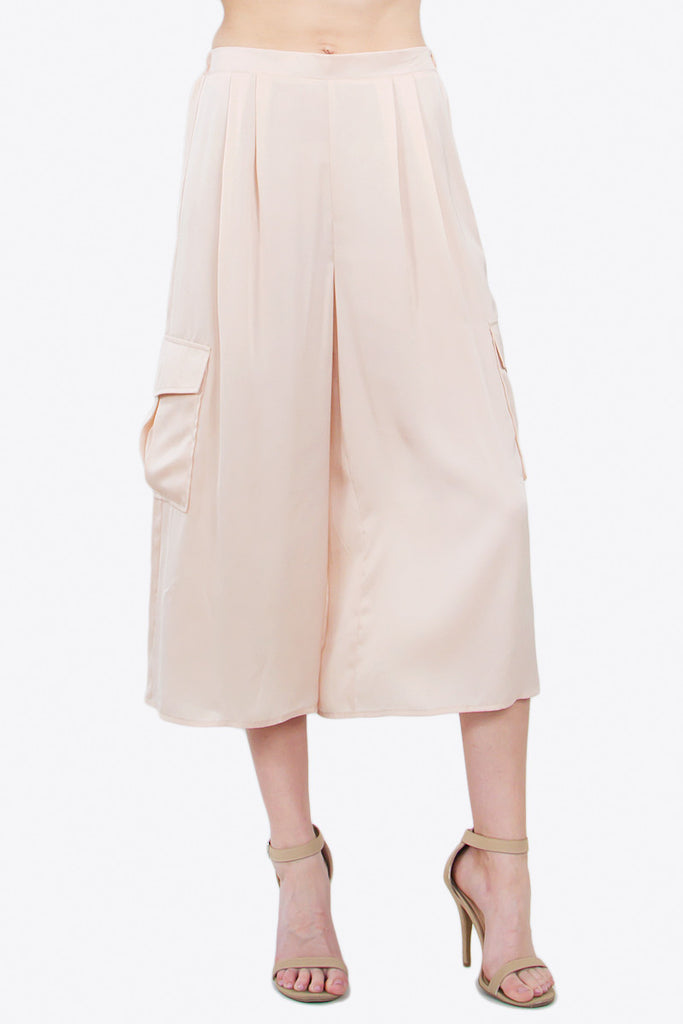 SILKY CULOTTE PANTS