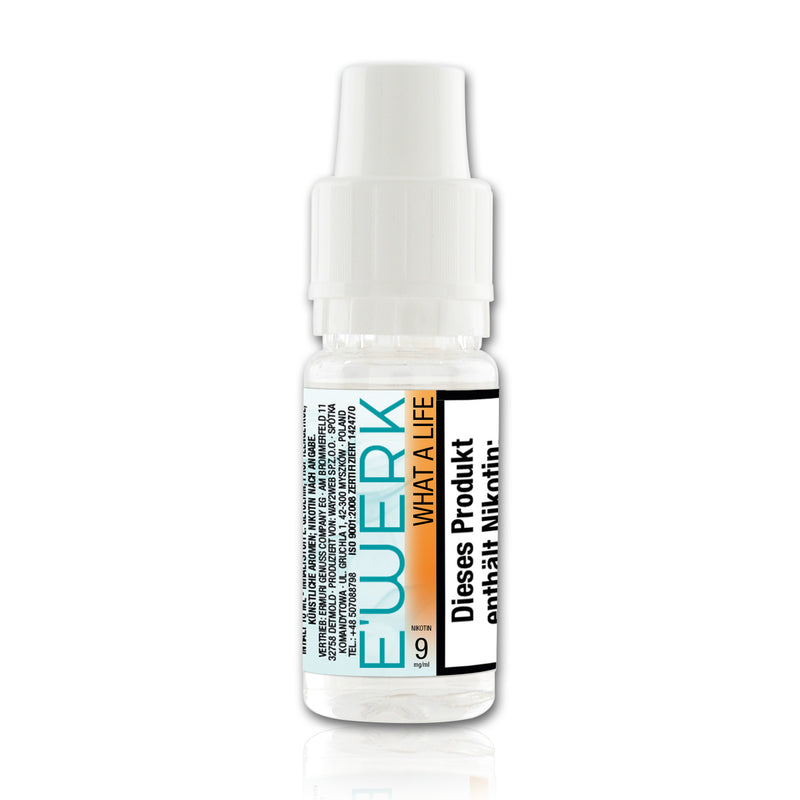 E-Liquid E'WERK What a Life 9 mg (Erdbeere)