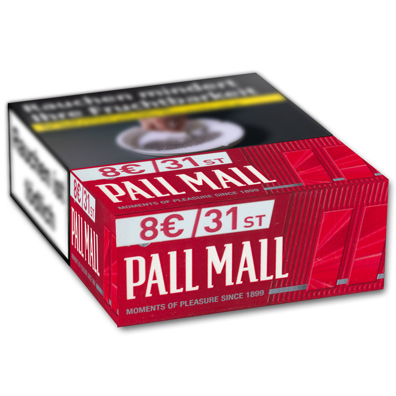 PALL MALL Red XXL 8,00 Euro (8x27)