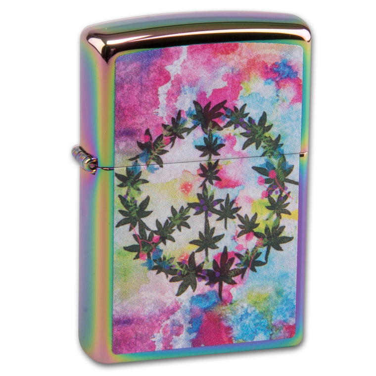 Zippo Rainbow Leaf and Peace