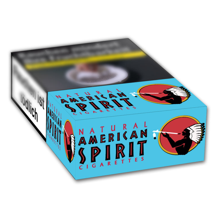 American Spirit blue Hardbox 6,40 Euro (10x20)