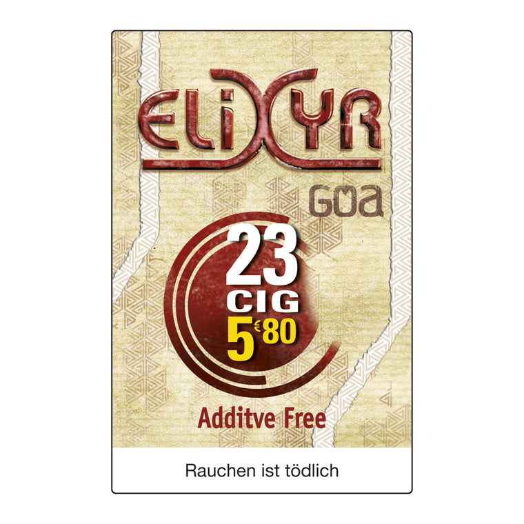 Elixyr Goa Red 6,50 Euro (8x24)