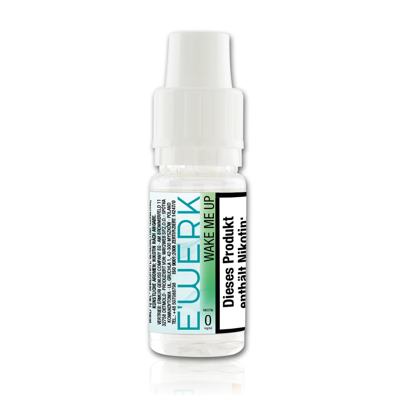 E-Liquid E'WERK Wake Me Up 0 mg (Spearmint)