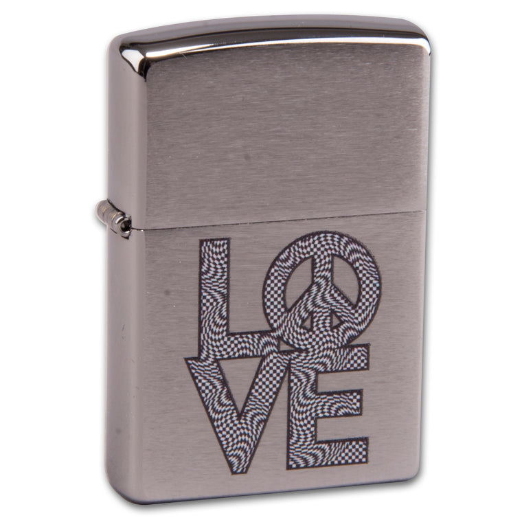Zippo Street chrom Love and Peace