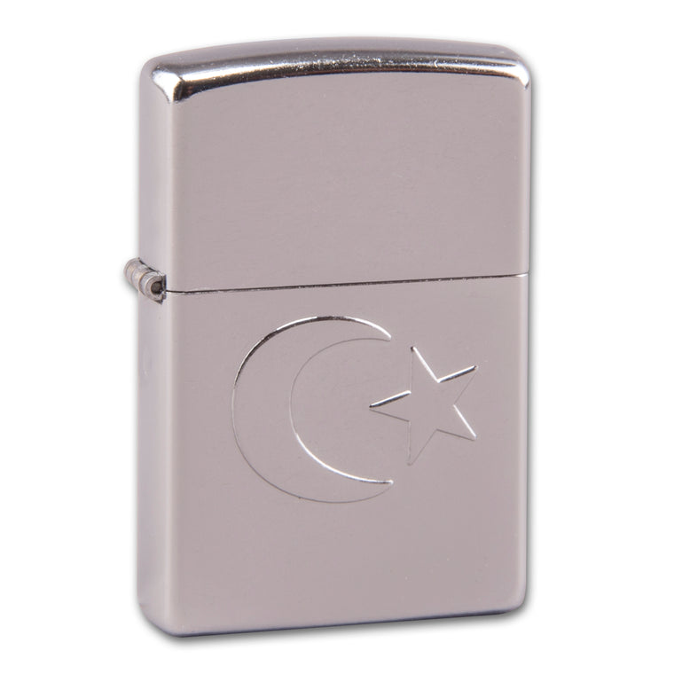 Zippo Street chrom Turkish Flag Stamp