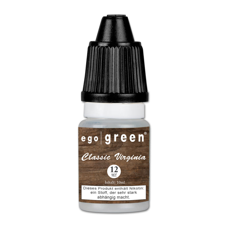 E-Liquid EGO GREEN Classic Virginia Tobacco 12 mg