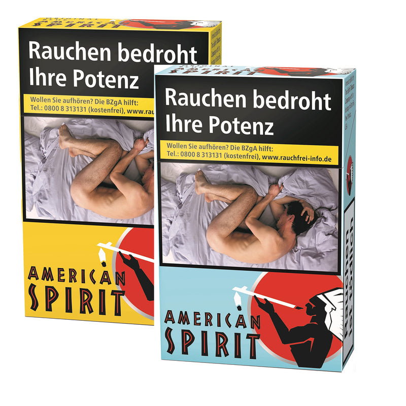 SET American Spirit Original Yellow & Blue L-Box