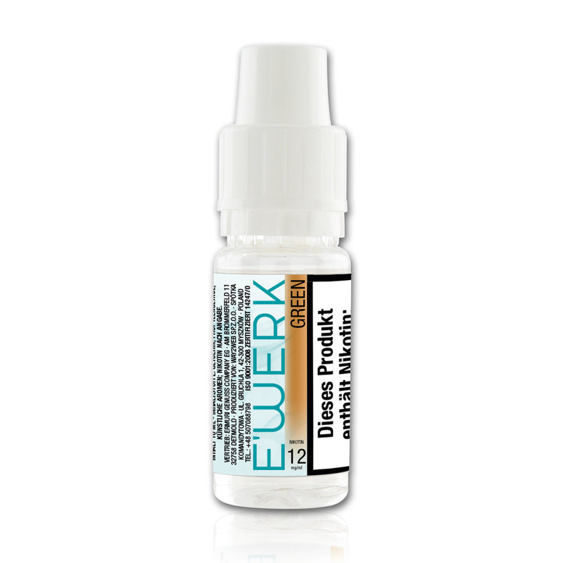 E-Liquid E'WERK Green 12 mg (Tobacco Mint)