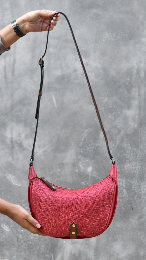 Woven Cranberry Little Caro