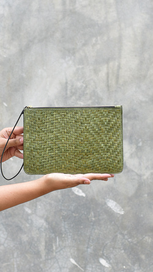 Woven Olive Lizzie