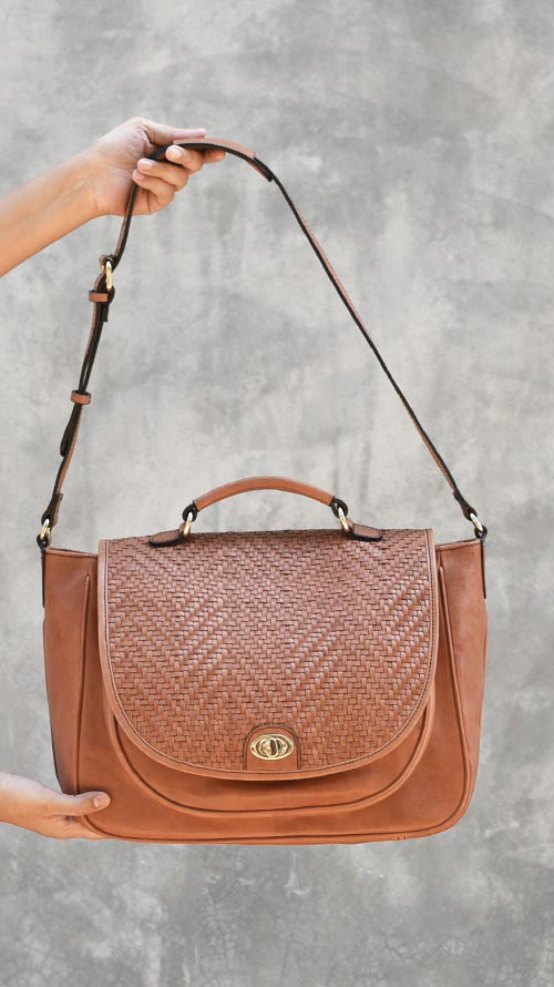 Woven Cognac Big Scottie