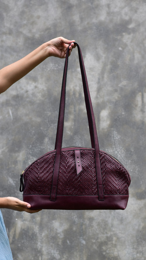Woven Bordeaux Lazy Mandy