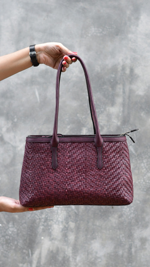 All Woven Bordeaux Medium Jojo