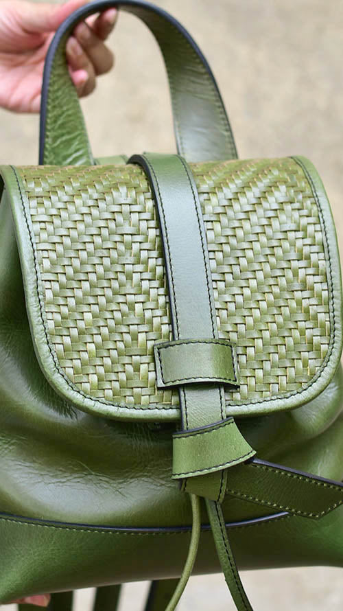 Woven Olive Bobbie