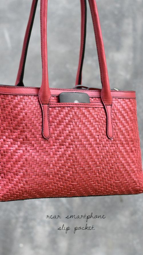 All Woven Cranberry Medium Jojo