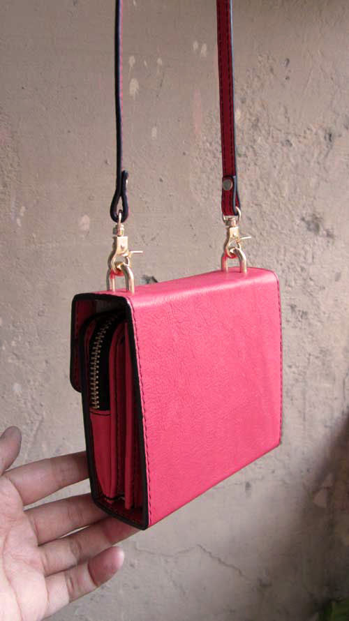 Coral Little Ellie, Chiaroscuro, India, Pure Leather, Handbag, Bag, Workshop Made, Leather, Bags, Handmade, Artisanal, Leather Work, Leather Workshop, Fashion, Women's Fashion, Women's Accessories, Accessories, Handcrafted, Made In India, Chiaroscuro Bags - 12