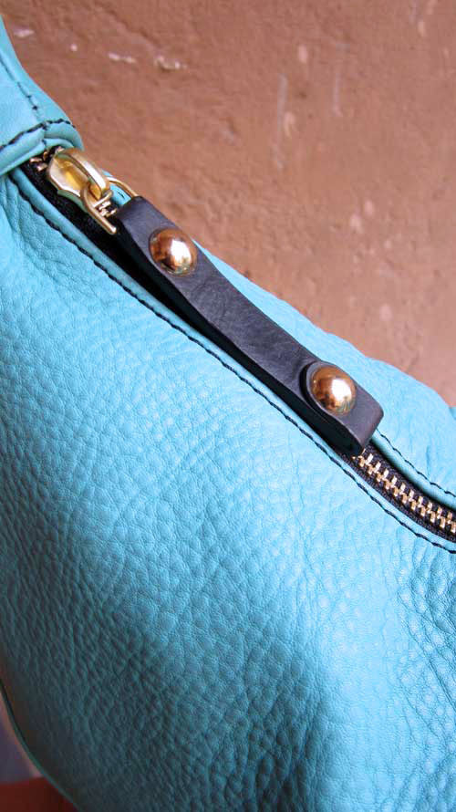 Aqua Little Caro, Chiaroscuro, India, Pure Leather, Handbag, Bag, Workshop Made, Leather, Bags, Handmade, Artisanal, Leather Work, Leather Workshop, Fashion, Women's Fashion, Women's Accessories, Accessories, Handcrafted, Made In India, Chiaroscuro Bags - 7