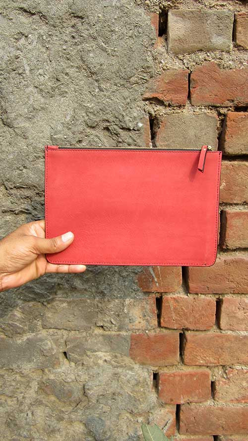 Coral Lizzie, Chiaroscuro, India, Pure Leather, Handbag, Bag, Workshop Made, Leather, Bags, Handmade, Artisanal, Leather Work, Leather Workshop, Fashion, Women's Fashion, Women's Accessories, Accessories, Handcrafted, Made In India, Chiaroscuro Bags - 5