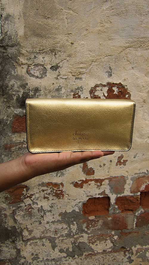 Light Gold Michela, Chiaroscuro, India, Pure Leather, Handbag, Bag, Workshop Made, Leather, Bags, Handmade, Artisanal, Leather Work, Leather Workshop, Fashion, Women's Fashion, Women's Accessories, Accessories, Handcrafted, Made In India, Chiaroscuro Bags - 6