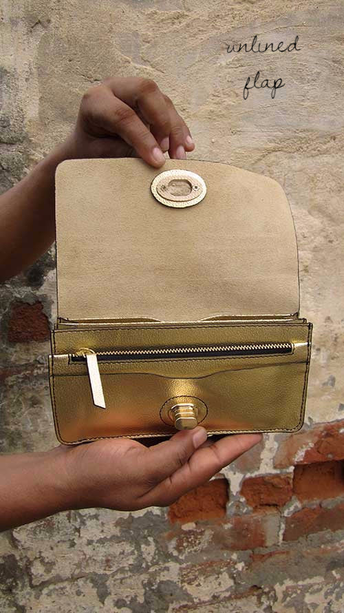 Light Gold Michela, Chiaroscuro, India, Pure Leather, Handbag, Bag, Workshop Made, Leather, Bags, Handmade, Artisanal, Leather Work, Leather Workshop, Fashion, Women's Fashion, Women's Accessories, Accessories, Handcrafted, Made In India, Chiaroscuro Bags - 3