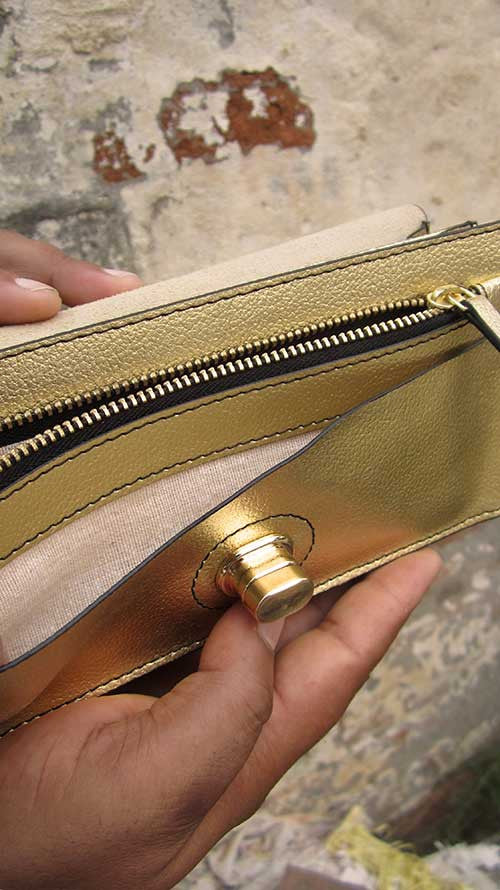 Light Gold Michela, Chiaroscuro, India, Pure Leather, Handbag, Bag, Workshop Made, Leather, Bags, Handmade, Artisanal, Leather Work, Leather Workshop, Fashion, Women's Fashion, Women's Accessories, Accessories, Handcrafted, Made In India, Chiaroscuro Bags - 8