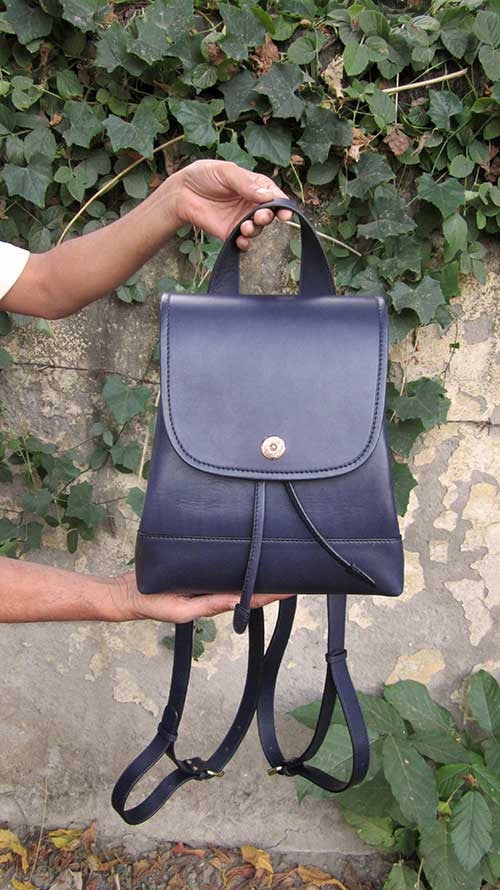 Indigo Bobbie, Chiaroscuro, India, Pure Leather, Handbag, Bag, Workshop Made, Leather, Bags, Handmade, Artisanal, Leather Work, Leather Workshop, Fashion, Women's Fashion, Women's Accessories, Accessories, Handcrafted, Made In India, Chiaroscuro Bags - 1
