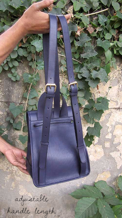 Indigo Bobbie, Chiaroscuro, India, Pure Leather, Handbag, Bag, Workshop Made, Leather, Bags, Handmade, Artisanal, Leather Work, Leather Workshop, Fashion, Women's Fashion, Women's Accessories, Accessories, Handcrafted, Made In India, Chiaroscuro Bags - 6