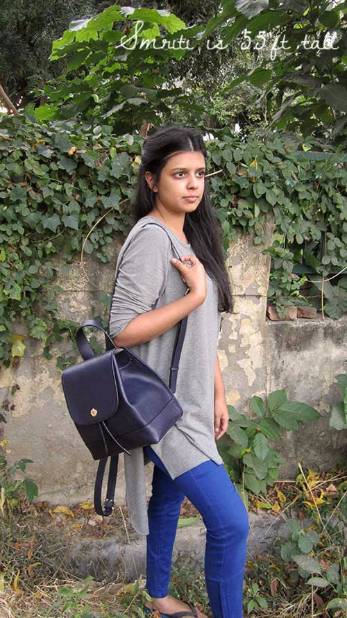 Indigo Bobbie, Chiaroscuro, India, Pure Leather, Handbag, Bag, Workshop Made, Leather, Bags, Handmade, Artisanal, Leather Work, Leather Workshop, Fashion, Women's Fashion, Women's Accessories, Accessories, Handcrafted, Made In India, Chiaroscuro Bags - 3