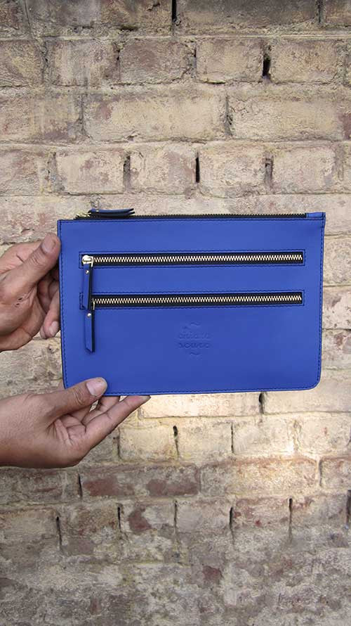 Cobalt Lizzie, Chiaroscuro, India, Pure Leather, Handbag, Bag, Workshop Made, Leather, Bags, Handmade, Artisanal, Leather Work, Leather Workshop, Fashion, Women's Fashion, Women's Accessories, Accessories, Handcrafted, Made In India, Chiaroscuro Bags - 4