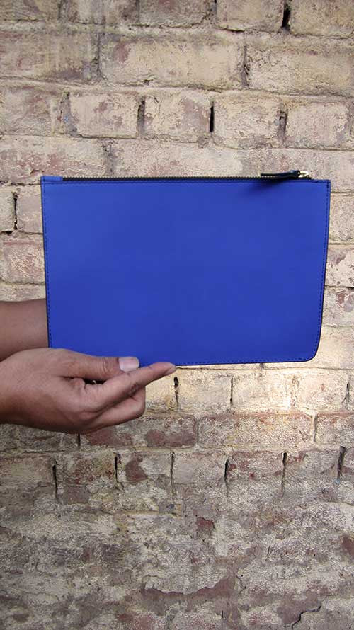 Cobalt Lizzie, Chiaroscuro, India, Pure Leather, Handbag, Bag, Workshop Made, Leather, Bags, Handmade, Artisanal, Leather Work, Leather Workshop, Fashion, Women's Fashion, Women's Accessories, Accessories, Handcrafted, Made In India, Chiaroscuro Bags - 6