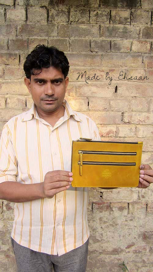 Mustard Lizzie, Chiaroscuro, India, Pure Leather, Handbag, Bag, Workshop Made, Leather, Bags, Handmade, Artisanal, Leather Work, Leather Workshop, Fashion, Women's Fashion, Women's Accessories, Accessories, Handcrafted, Made In India, Chiaroscuro Bags - 8