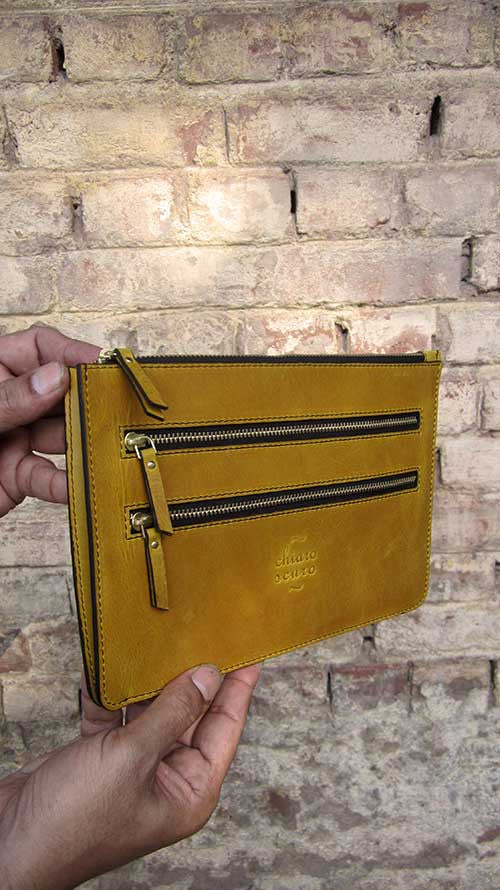 Mustard Lizzie, Chiaroscuro, India, Pure Leather, Handbag, Bag, Workshop Made, Leather, Bags, Handmade, Artisanal, Leather Work, Leather Workshop, Fashion, Women's Fashion, Women's Accessories, Accessories, Handcrafted, Made In India, Chiaroscuro Bags - 6