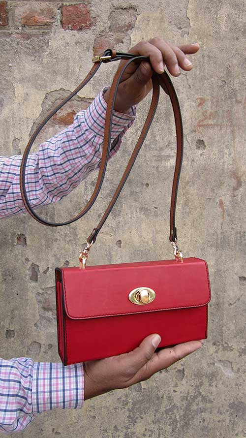 Rose Ellie, Chiaroscuro, India, Pure Leather, Handbag, Bag, Workshop Made, Leather, Bags, Handmade, Artisanal, Leather Work, Leather Workshop, Fashion, Women's Fashion, Women's Accessories, Accessories, Handcrafted, Made In India, Chiaroscuro Bags - 8