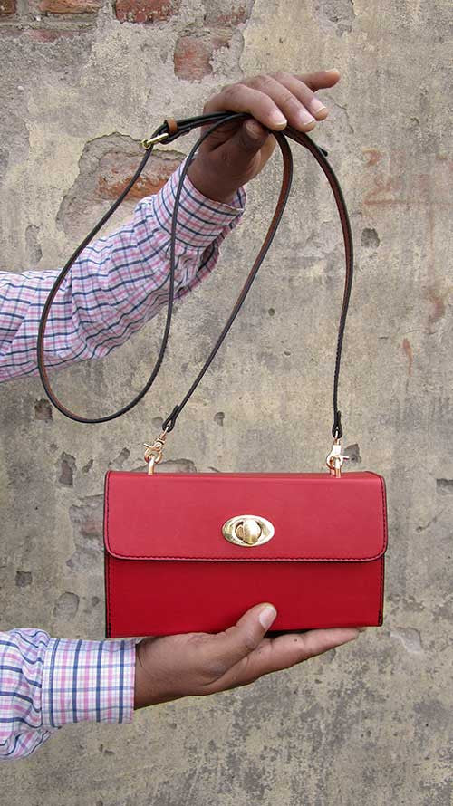 Rose Ellie, Chiaroscuro, India, Pure Leather, Handbag, Bag, Workshop Made, Leather, Bags, Handmade, Artisanal, Leather Work, Leather Workshop, Fashion, Women's Fashion, Women's Accessories, Accessories, Handcrafted, Made In India, Chiaroscuro Bags - 1