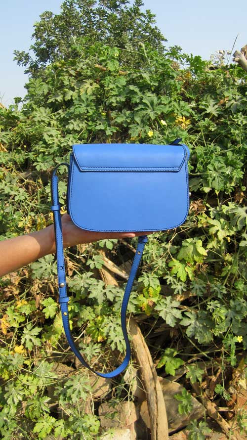 Cobalt Little Stefanie, Chiaroscuro, India, Pure Leather, Handbag, Bag, Workshop Made, Leather, Bags, Handmade, Artisanal, Leather Work, Leather Workshop, Fashion, Women's Fashion, Women's Accessories, Accessories, Handcrafted, Made In India, Chiaroscuro Bags - 8