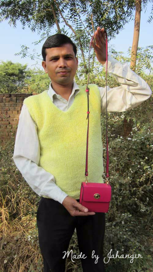 Candy Little Ellie, Chiaroscuro, India, Pure Leather, Handbag, Bag, Workshop Made, Leather, Bags, Handmade, Artisanal, Leather Work, Leather Workshop, Fashion, Women's Fashion, Women's Accessories, Accessories, Handcrafted, Made In India, Chiaroscuro Bags - 1
