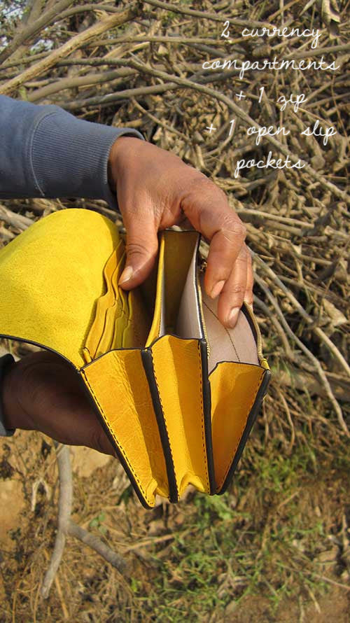 Mustard Michela, Chiaroscuro, India, Pure Leather, Handbag, Bag, Workshop Made, Leather, Bags, Handmade, Artisanal, Leather Work, Leather Workshop, Fashion, Women's Fashion, Women's Accessories, Accessories, Handcrafted, Made In India, Chiaroscuro Bags - 9