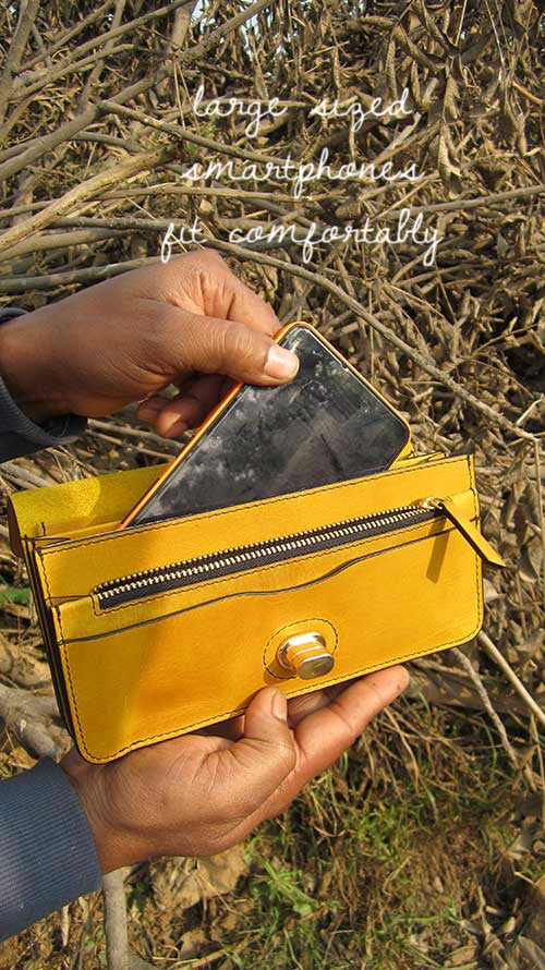 Mustard Michela, Chiaroscuro, India, Pure Leather, Handbag, Bag, Workshop Made, Leather, Bags, Handmade, Artisanal, Leather Work, Leather Workshop, Fashion, Women's Fashion, Women's Accessories, Accessories, Handcrafted, Made In India, Chiaroscuro Bags - 11