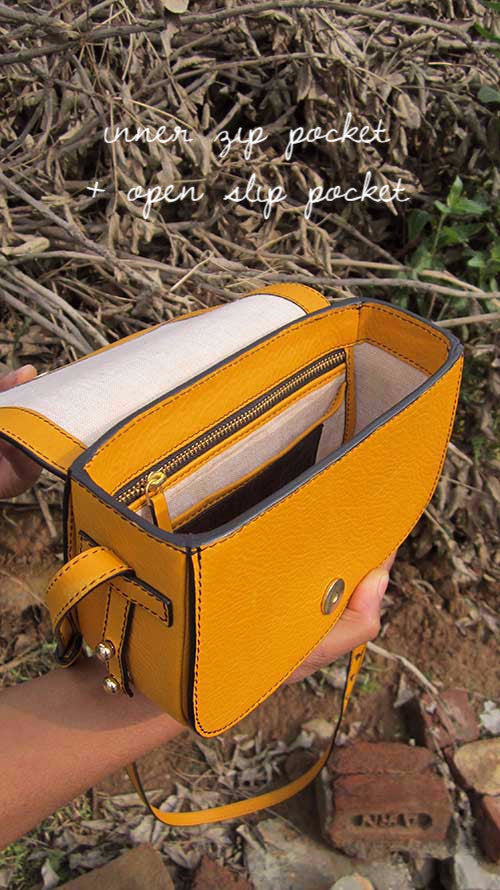 Mango Little Stefanie, Chiaroscuro, India, Pure Leather, Handbag, Bag, Workshop Made, Leather, Bags, Handmade, Artisanal, Leather Work, Leather Workshop, Fashion, Women's Fashion, Women's Accessories, Accessories, Handcrafted, Made In India, Chiaroscuro Bags - 3