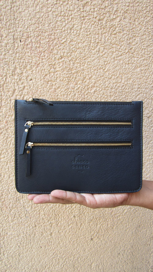 Navy Lizzie, Chiaroscuro, India, Pure Leather, Handbag, Bag, Workshop Made, Leather, Bags, Handmade, Artisanal, Leather Work, Leather Workshop, Fashion, Women's Fashion, Women's Accessories, Accessories, Handcrafted, Made In India, Chiaroscuro Bags - 1
